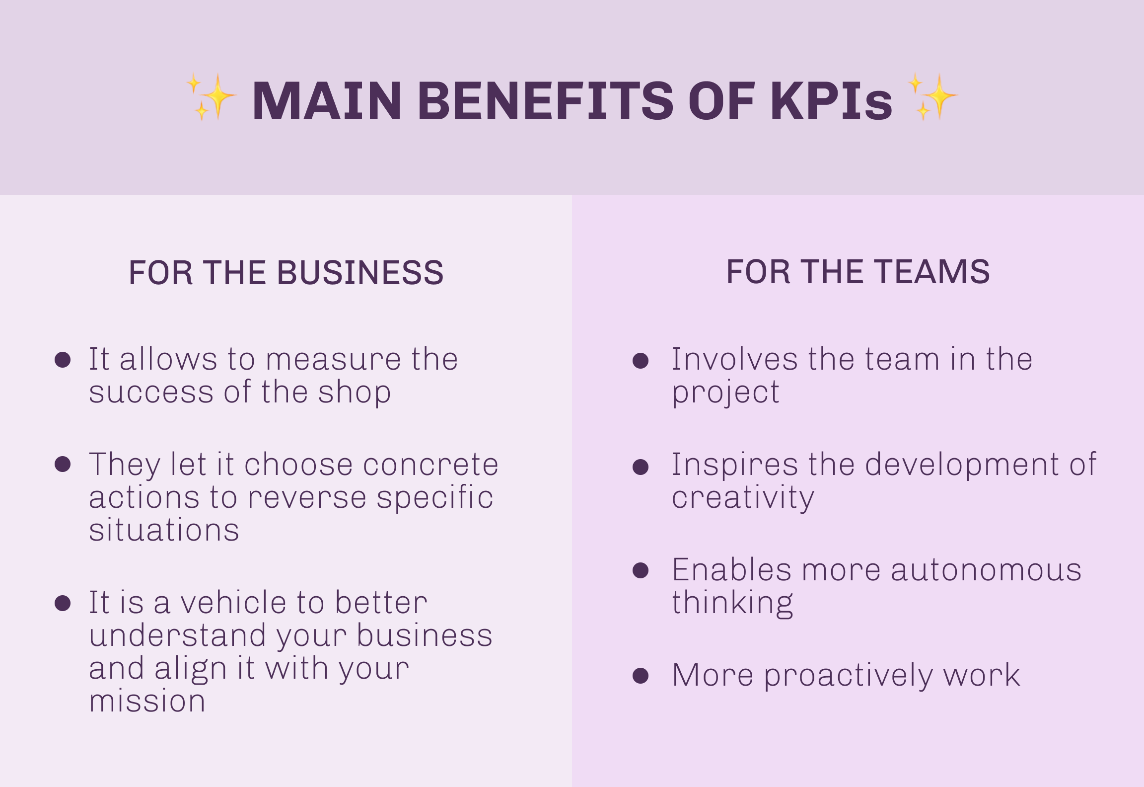 What are the Main Benefits of KPIs